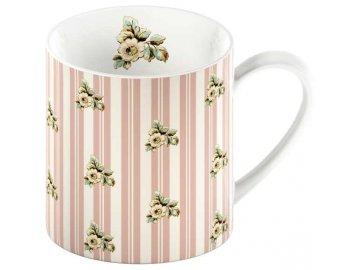 Hrnek Pink Stripes Cottage Flower 0,3l