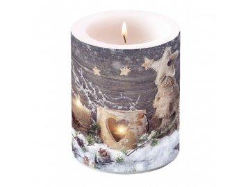 Svíčka maxi vánoční 10x12cm