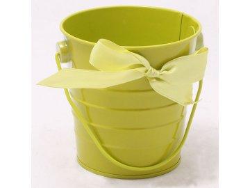 Plechový květináč zelený 10x10cm