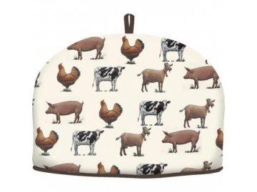 Textilní pokrývka na čajovou konev FARMERS MARKET | bavlna | 27x30cm