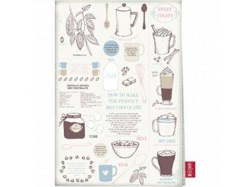 Kuchyňská utěrka CHOCOLATE | bavlna | 50x70cm
