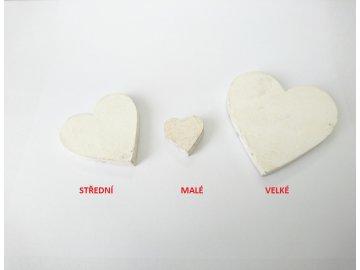 Dekorace srdce baculaté (Velikost velké)