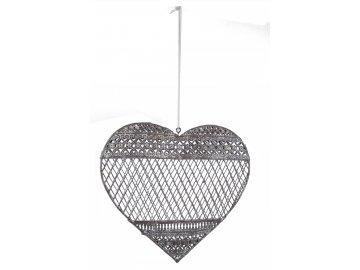 Srdce závěsné 3D 17,5x19,5x3cm