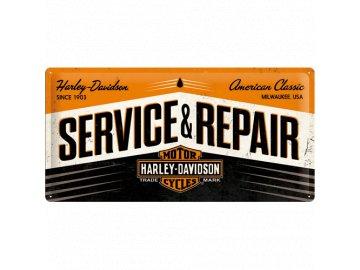 Plechová cedule HD Service & Repair