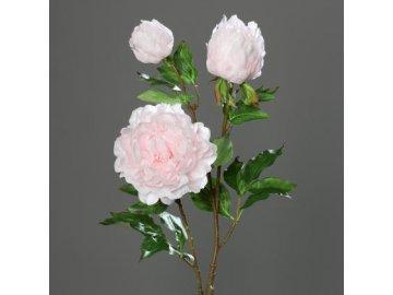 Umělá květina pivoňka 83cm (Barva růžová)