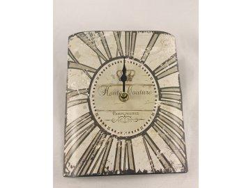 Kovové hodiny 21cm