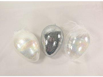 Skleněné vejce s peříčky Diamond
