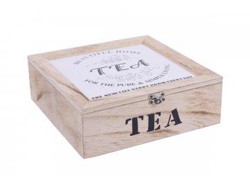 Krabička na čaj dřevěná