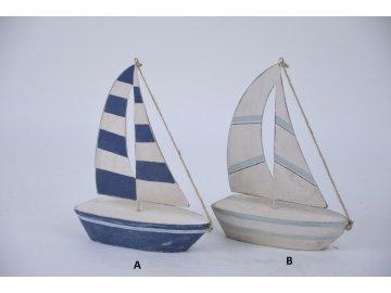 Dekorativní plachetnice ze dřeva