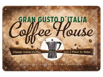 Plechová cedule Coffee House