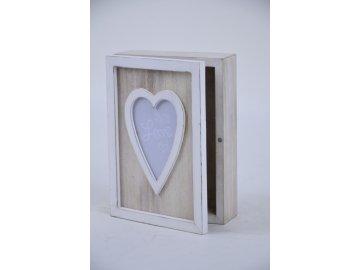 Krabička Love dřevěná (Rozměry 18,5x25x7cm)