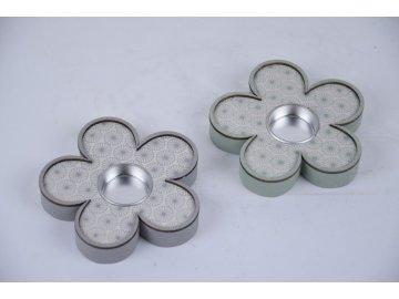 Svícen na čajovou svíčku ve tvaru kytičky