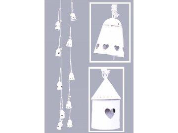 Girlanda domečky bílá 5x90x5cm