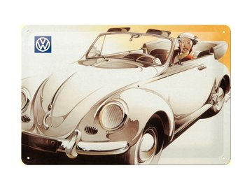 Plechová cedule Beetle cabrio