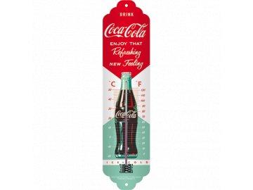 Venkovní teploměr kovový Coca Cola