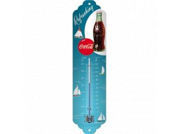 Venkovní teploměr kovový Coca Cola refreshing