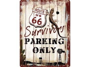 Plechová cedule Route 66 Survivors