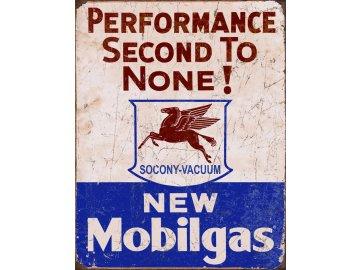 Plechová cedule New Mobilgas