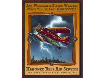 Plechová cedule Kahonee Air Service