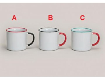 Hrnek porcelán 8cm set 4ks (Provedení C)