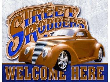 Plechová cedule Street Rodders 30x40cm