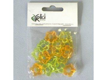 kvetinky pvc 18ks 2cm mix