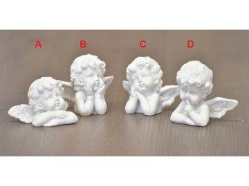 Anděl barokní busta 5cm
