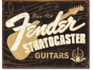 Plechová cedule Fender Stratocaster 30x40cm