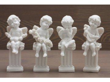 Anděl sedící baroko 11cm