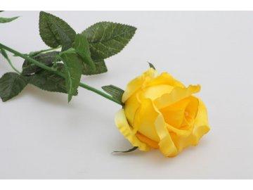 Růže umělá 70cm (Barva žlutá)