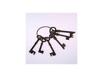 Litinové klíče dekorativní