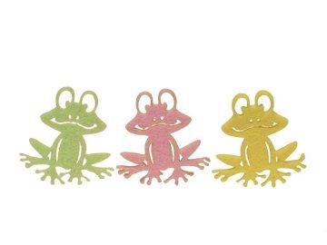 Dekorace žába filc set 12ks
