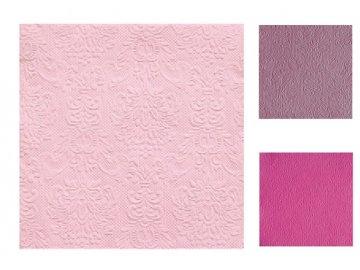 Papírové ubrousky Elegance růžová 15ks