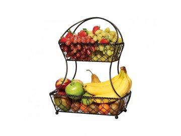 Dvoupatrový drátěný koš na ovoce a zeleninu Mikasa