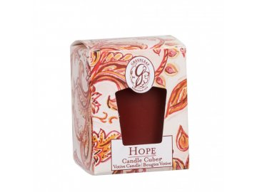 gl candle cube votive hope