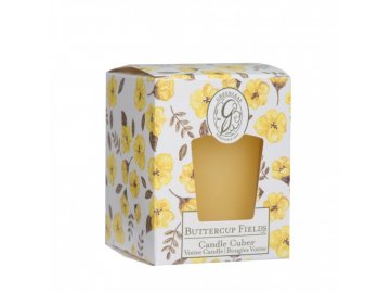 gl candle cube votive buttercup fields