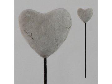 Zápich srdce cement 8,5x34,5cm