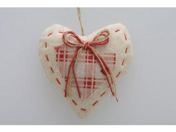 Látkové srdce 8cm