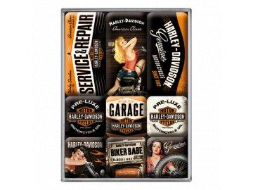 Magnetky na ledničku Harley Davidson Garage