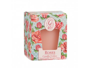 gl candle cube votive roses