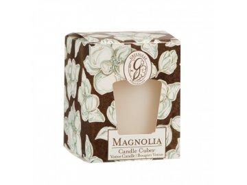 gl candle cube votive magnolia
