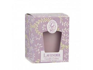 gl candle cube votive lavender