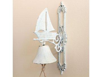 Zvonek | litinový | bílý