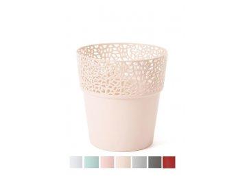 plastovy kvetinac krajka rosa 12 5 cm