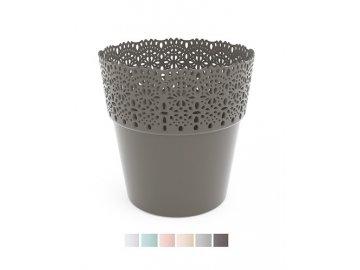 plastovy kvetinac krajka bella 11 5 cm