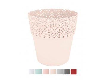 plastovy kvetinac krajka bella 13 cm