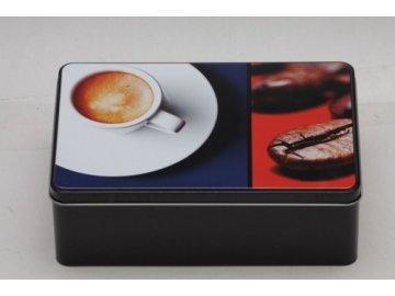 Dóza na sušenky Coffee 20x13x7cm