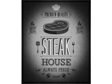 Deska Steak House Black and White 30x40 cm