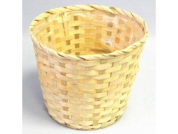Koš bambus natural (Barva tmavá, Provedení Menší)