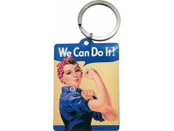 Klíčenka 4x6 cm We Can Do It